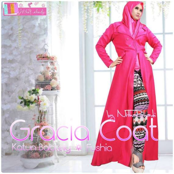 gracia coa by nitha rahadit, khusus jual coat, coat panjang, jaket elegan, coat bahan bolatelly, coat bahan jacguard, coat premium, coat seragam keluarga, coat couple, coat jumbo, coat anak anak, coat murah, coat elegan, coat terbaru